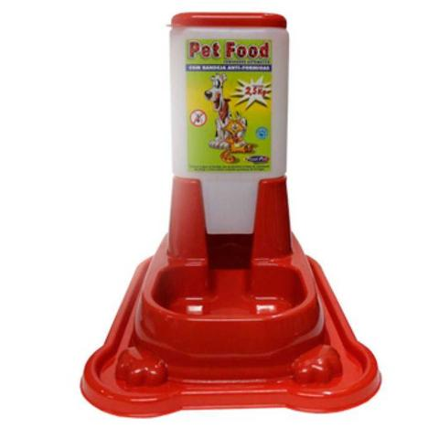 Imagem de Comedouro Automático Anti Formiga Caes e Gatos 2,5kg Vermelho