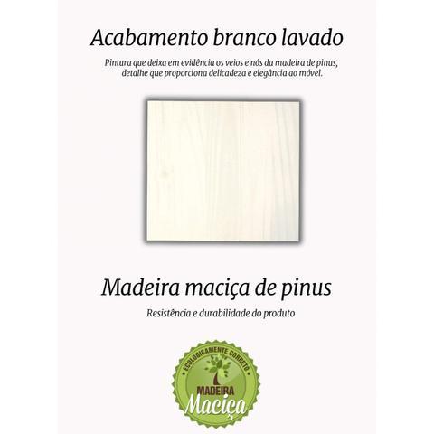 Imagem de Cômoda 5 Gavetas Balthasar Madeira Maciça Inter Link Branco Lavado
