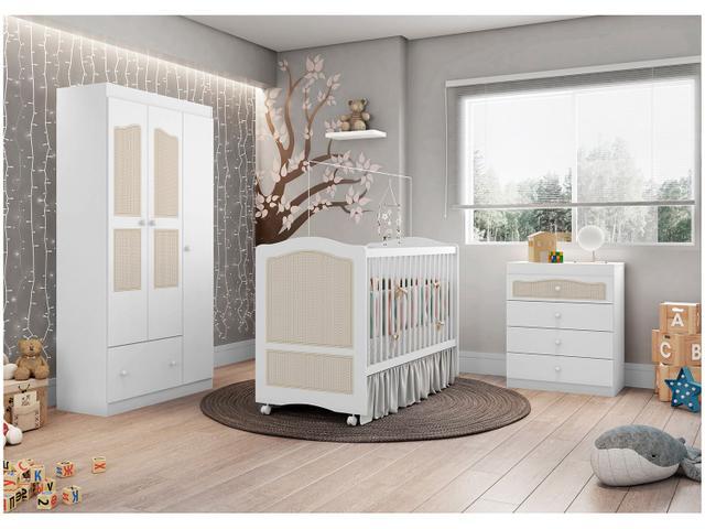 Imagem de Cômoda de Bebê 4 Gavetas Móveis Estrela