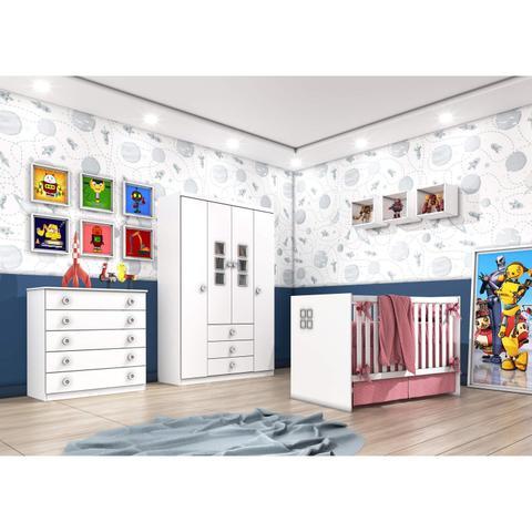 Imagem de Cômoda de Bebê 5 Gavetas Lunna Tcil Móveis Branco