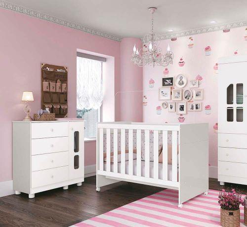 Imagem de Cômoda Infantil com Porta Katatau Branco Brilho - Reller
