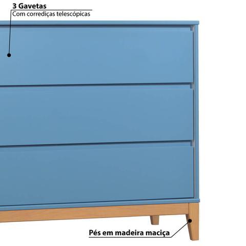 Imagem de Cômoda Infantil Slim 3 Gavetas com Pés de Madeira - Shadow