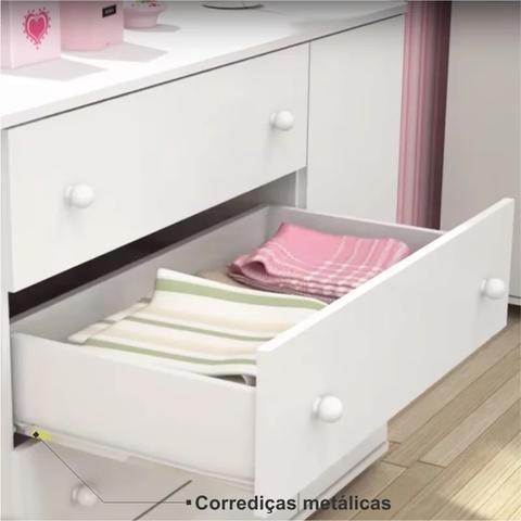 Imagem de Cômoda Lorena com 01 Porta Branco - Phoenix Baby