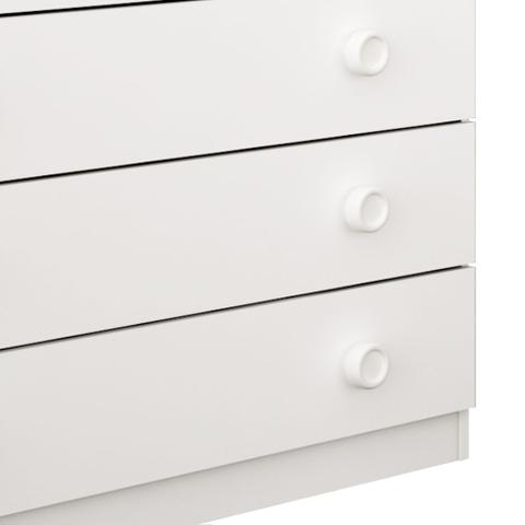 Imagem de Cômoda Lunna 5 Gavetas Branco Com Branco