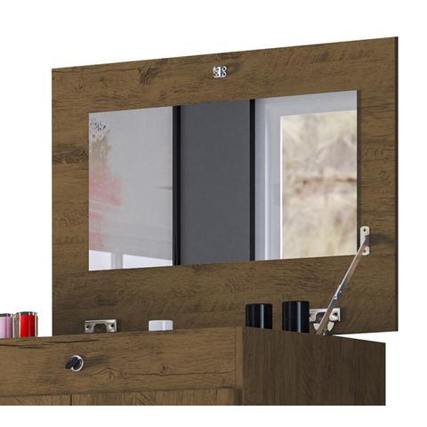 Imagem de Comoda New Elegance Com Espelho 04 Gavetas Castanho Avela Wood Moval