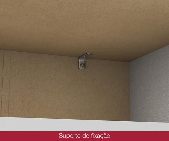Imagem de Comoda Pão de Mel 06 Gavetas - Branco - Henn Móveis