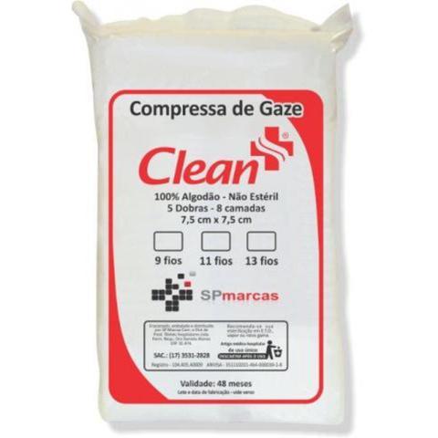 Imagem de Compressa De Gaze Clean Hosp 13 Fios com 500 unidades