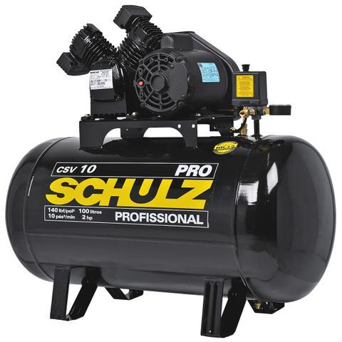 Imagem de Compressor 10 Pés 100 Litros 140 Libras 2 HP CSV-10/100 PRO SCHULZ