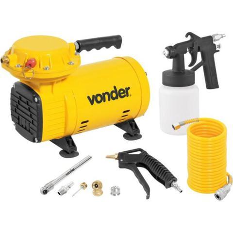 Imagem de Compressor Ar Direto 1/2 HP com Kit de Acessórios BIVOLT VONDER