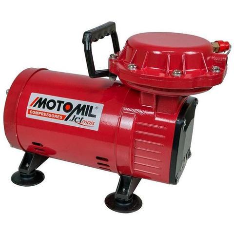 Imagem de Compressor Ar Direto 1,3 HP Motocompressor Jetmil Bivolt com Kit MOTOMIL