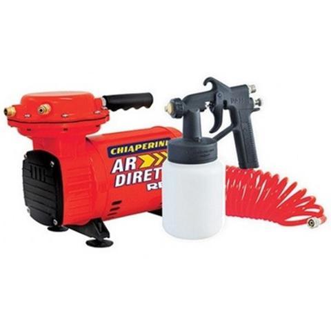 Imagem de Compressor Chiaperini Tufão Red Ar Direto Bivolt Com Pistola de Pintura