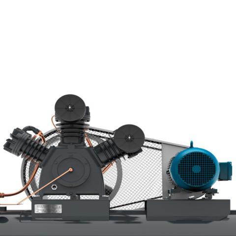 Imagem de Compressor de ar 40 pés 425 litros 10 hp trifásico - AT10/40 425L (220/380 (Trifásico))