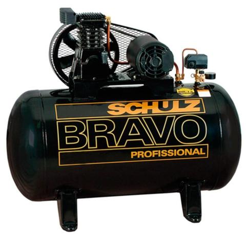 Compressor de Ar Elétrico Bravo Schulz Csl10br/100l Trifásico
