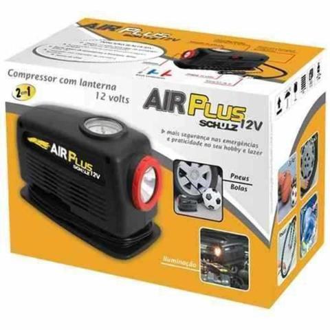 Imagem de Compressor para Acendedor de Carros com Lanterna AIR PLUS 12V SCHULZ