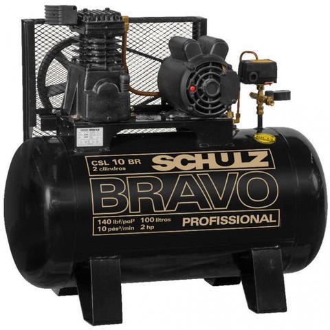 Imagem de Compressor Schulz CSL 10 Bravo 100 Litros 140 Libras 2 cv Monofásico