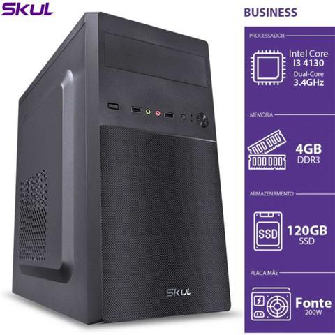 Desktop Skul Business B300 Bm7100s1208 I3-7100 3.90ghz 4gb 120gb Intel Hd Graphics 630 Linux Sem Monitor