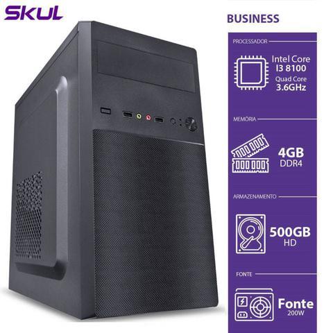Desktop Skul Business B300 B81005004 I3-8100 3.60ghz 4gb 500gb Intel Hd Graphics Linux
