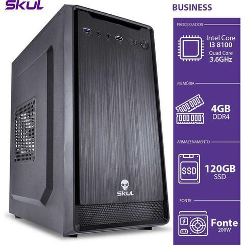 Desktop Skul Business B300 B81001204 I3-8100 3.60ghz 4gb 120gb Intel Hd Graphics Linux