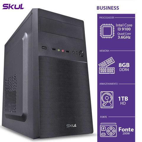 Desktop Skul Business B300 B91001t8 I3-9100 3.60ghz 8gb 1tb Intel Hd Graphics Linux Sem Monitor