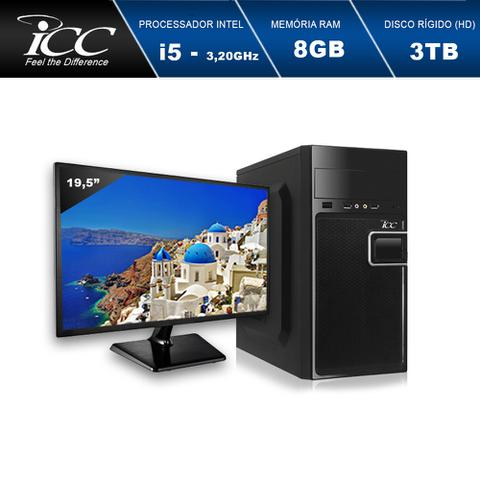 Imagem de Computador Desktop ICC IV2584SWM19 Intel Core I5 3.20 ghz 8gb HD 3TB HDMI FULL HD Monitor LED 19,5