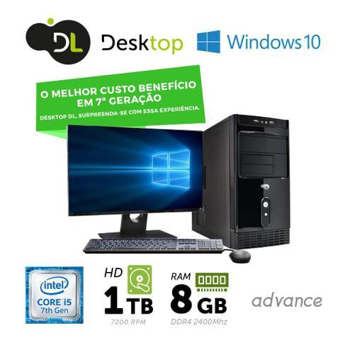 Imagem de Computador DL Advance - Intel core i5, 8GB, HD 1TB,USB3.0, Windows 10, Monitor19,5