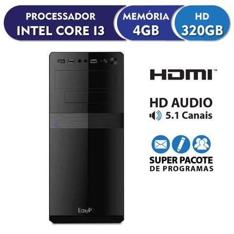 Imagem de Computador EasyPC Standard Intel Core i3 4GB DDR3 HD 320GB HDMI FullHD audio 5.1