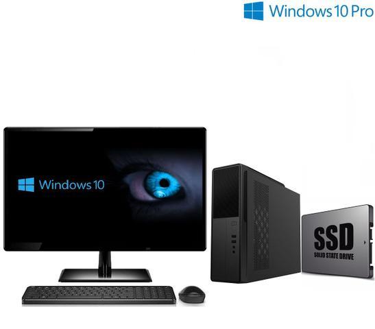 Imagem de Computador Empresarial com Windows 10 Pro SSD Processador Intel 4GB Memória Wifi Gabinete compacto Monitor LED HDMI 19.5