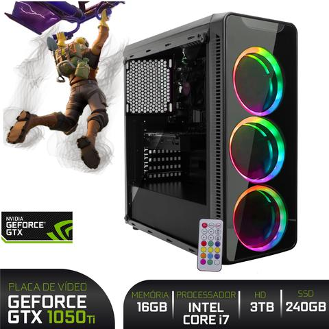 Imagem de Computador Gamer BestON Intel Core i7 (Geforce GTX 1050Ti 4GB) 16GB RAM SSD 240GB HD 3TB Fonte 500W 80 Plus