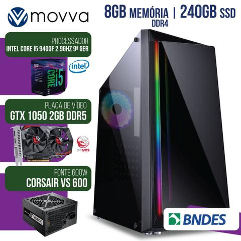 Imagem de Computador Gamer Mvx5 Intel I5 9400f 2.9ghz 9ªGer Mem8gb Ssd240gb Vga Gtx1050 2gb Fonte600w Linux