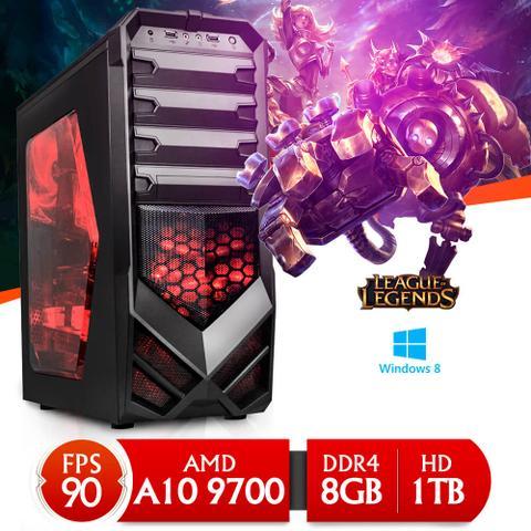 Desktop Neologic Gamer Nli80295 Amd A10-9700 3.50ghz 8gb 1tb Radeon R7 Windows 8 Sem Monitor
