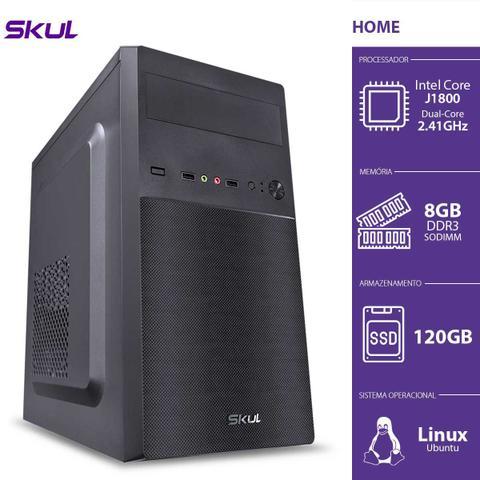 Desktop Skul Business H100 Hj18001208 Celeron J1800 2.41ghz 8gb 120gb Intel Hd Graphics Linux