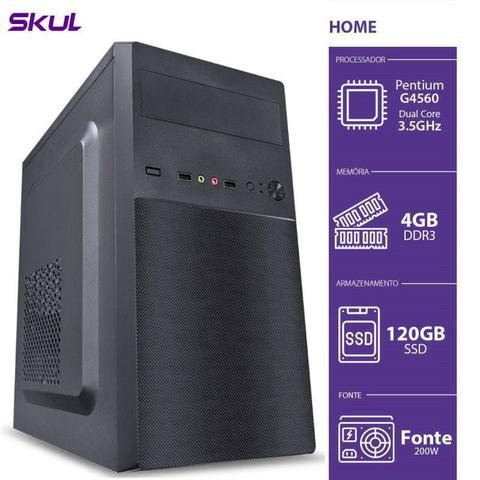 Desktop Skul Business H200 Hg54001204 Pentium G5400 3.70ghz 4gb 120gb Intel Hd Graphics Linux Sem Monitor