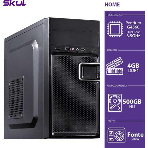 Desktop Skul Business H200 Hg45605004 Pentium G4560 3.50ghz 4gb 500gb Intel Hd Graphics Linux Sem Monitor