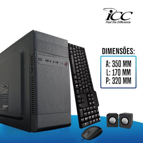 Imagem de Computador Icc  Amd Fm2 A10 8gb de Ram Ssd 120 Gb Kit Multimídia Dvdrw