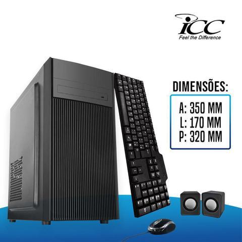 Imagem de Computador Icc Intel Dual Core 4gb Ssd 120 Gb Kit Multimídia Monitor 19