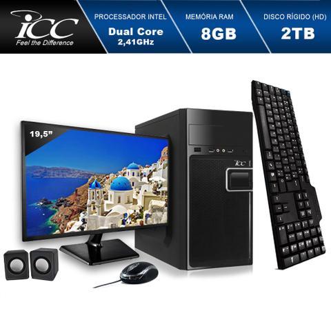 Desktop Icc Iv1883km19 Celeron J1800 2.41ghz 8gb 640gb Intel Hd Graphics Linux Com Monitor