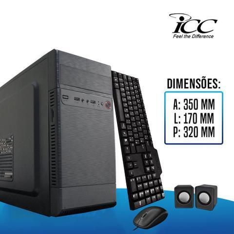 Imagem de Computador ICC IV2341CM19 Intel Core I3 3.20 ghz 4GB HD 500GB DVDRW Kit Multimídia Monitor LED 195