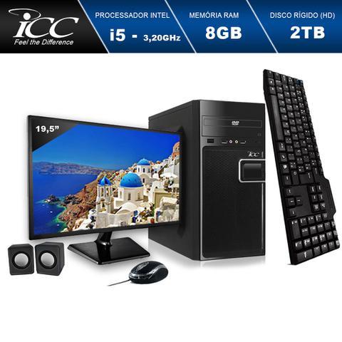 Imagem de Computador ICC IV2583CM19 Intel Core I5 3.20 ghz 8GB HD 2TB DVDRW Kit Multimídia Monitor LED 19,5