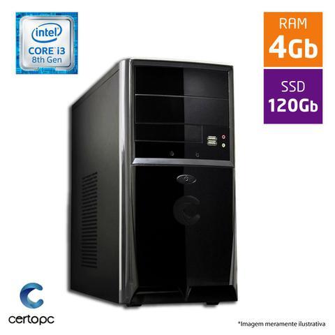 Desktop Certo Pc Smart 1019 I3-8100 3.60ghz 4gb 120gb Windows 10 Pro Sem Monitor