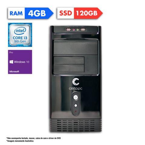 Desktop Certo Pc Smart 1203 I3-9100 3.60ghz 4gb 120gb Intel Hd Graphics Windows 10 Pro