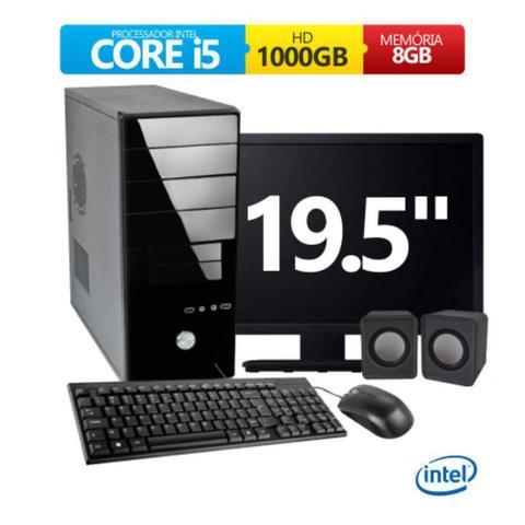 Imagem de Computador Intel Core i5 3.20Ghz Memória 8Gb Hd 1Tb Monitor Led 19,5 Com Hdmi Kit Tec Mou e Cx Som