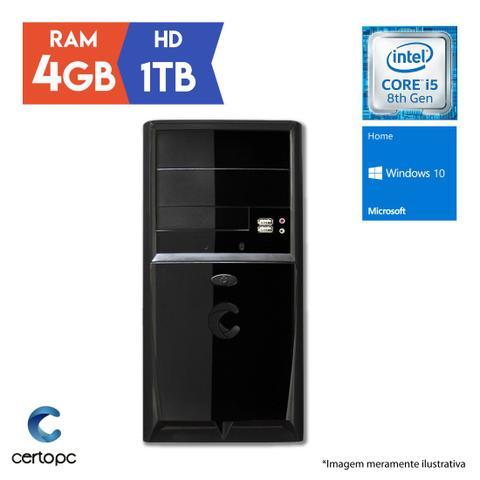 Desktop Certo Pc Select 1002 I5-8400 2.80ghz 4gb 1tb Intel Hd Graphics Windows 10 Pro Sem Monitor
