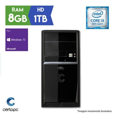 Desktop Certo Pc Select 1009 I5-8400 4.0ghz 8gb 1tb Intel Hd Graphics Windows 10 Pro Sem Monitor