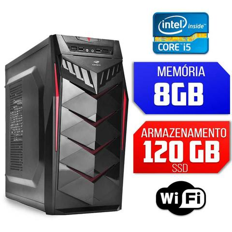 Imagem de Computador Intel Core i5, 8GB Ram, SSD 120GB