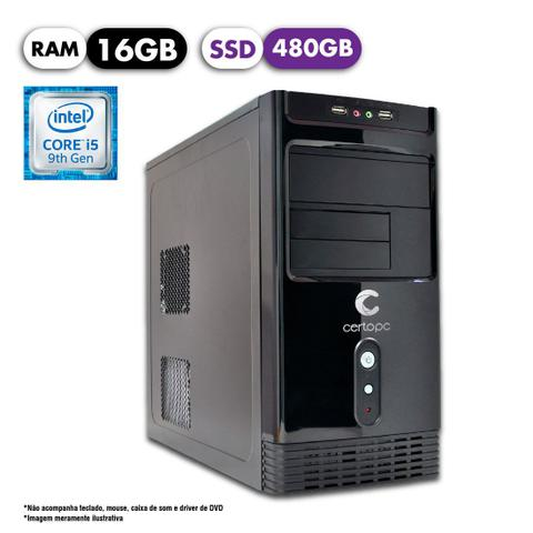 Desktop Certo Pc Select 1219 I5-9400 2.90ghz 16gb 480gb Intel Hd Graphics Linux