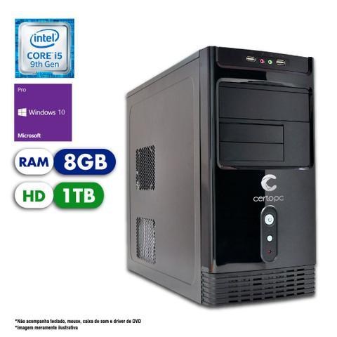 Desktop Certo Pc Select 1212 I5-9400 2.90ghz 8gb 1tb Intel Hd Graphics Windows 10 Pro Sem Monitor