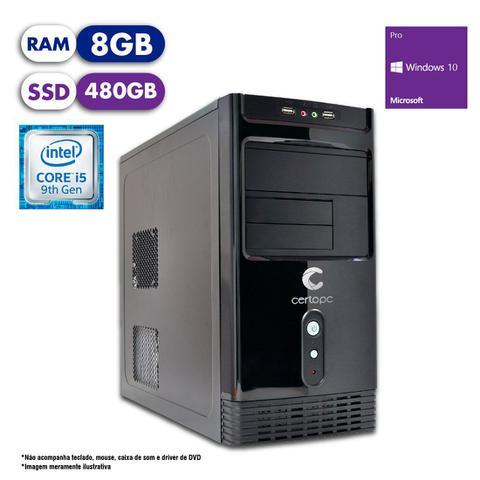 Desktop Certo Pc Select 1209 I5-9400 2.90ghz 8gb 480gb Intel Hd Graphics Windows 10 Pro Sem Monitor