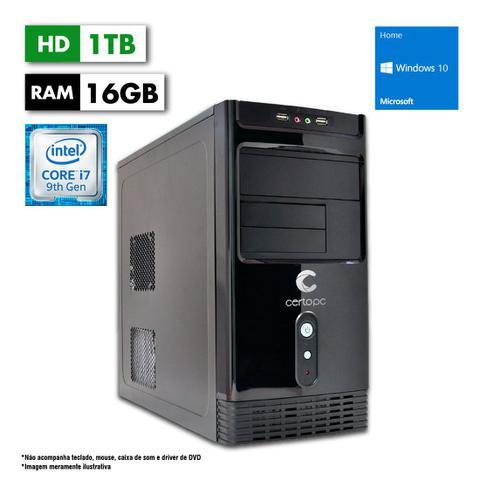 Desktop Certo Pc Desempenho 1214 I7-9700 3.60ghz 8gb 1tb Intel Hd Graphics Windows 10 Pro Sem Monitor
