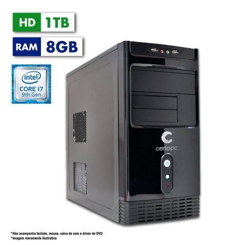 Desktop Certo Pc Desempenho 1201 I7-9700 3.0ghz 8gb 1tb Intel Hd Graphics Linux Sem Monitor