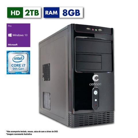Desktop Certo Pc Desempenho 1206 I7-9700 3.0ghz 4gb 2tb Intel Hd Graphics Windows 10 Pro Sem Monitor